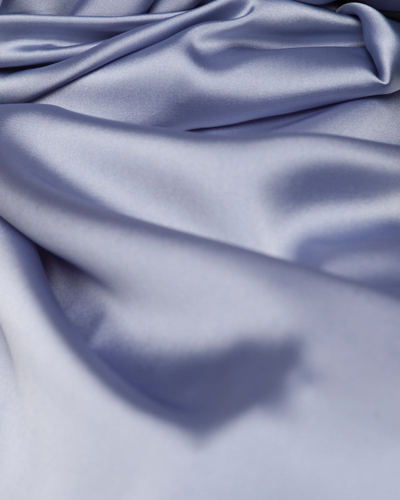 Blue - Satin Large Hijab