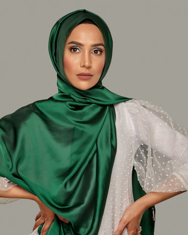 Bottle Green - Silken Large Hijab