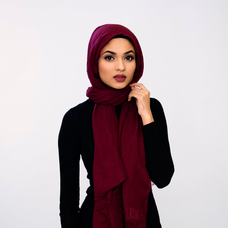 Burgundy Essential Hijab