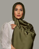 Dark Green - Satin Large Hijab