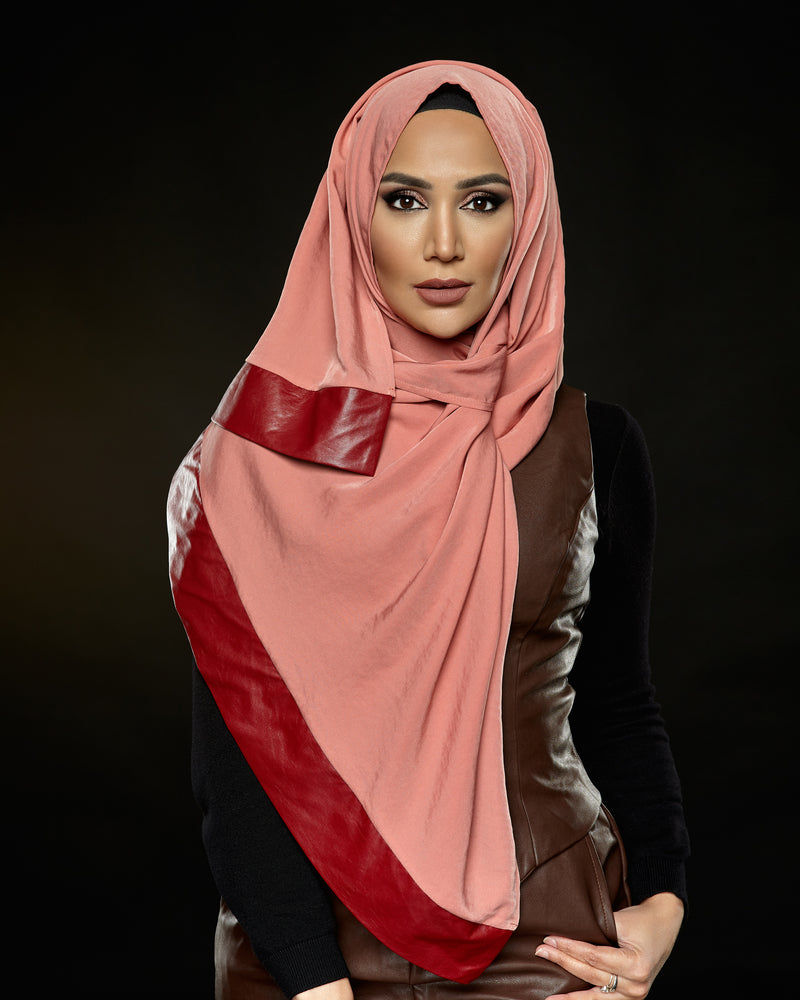 Fancy - Pleather Edge Hijab