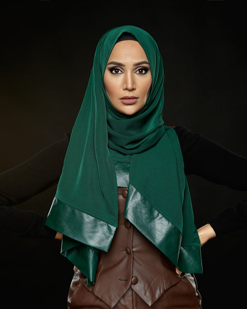 Fierce - Pleather Edge Hijab