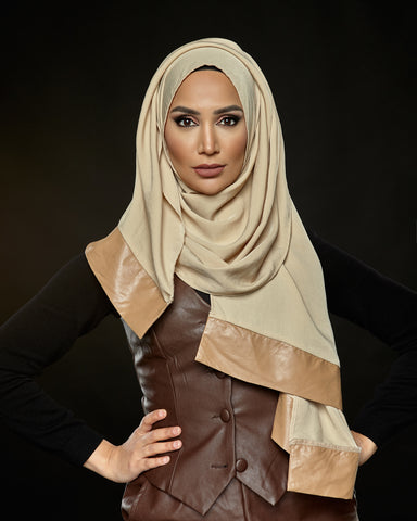 Fresh  - Pleather Edge Hijab
