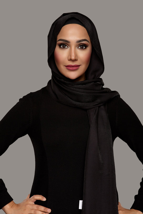 True Black - Glam Hijab