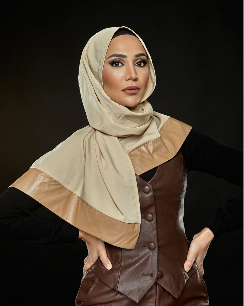 Fresh - Pleather Edge Petite Hoojab