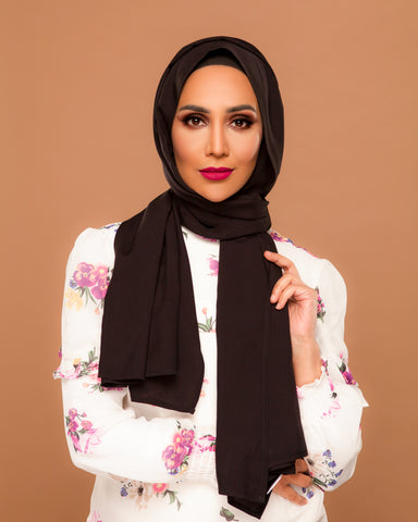 Dark - Chocolate Hijab (Black)