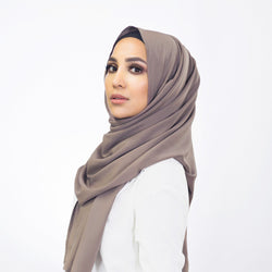 Weightless Taupe Hijab