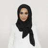 Smooth Crushed Black Hijab