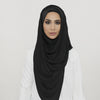 Black Smooth Crushed Maxi Hoojab