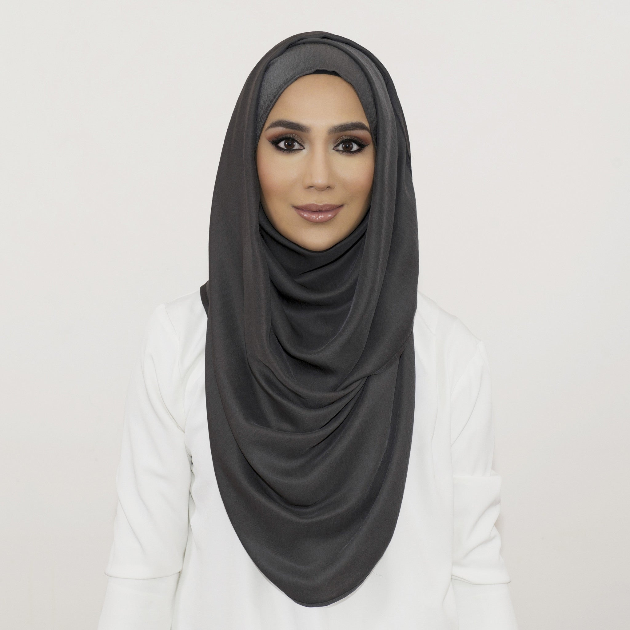Slate Smooth Crushed Maxi Hoojab