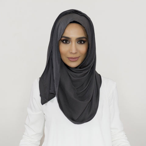 Smooth Crushed Slate Hijab