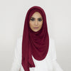 Smooth Crushed Burgundy Hijab