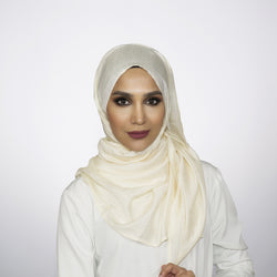 Shimmer Cream Crushed Hijab