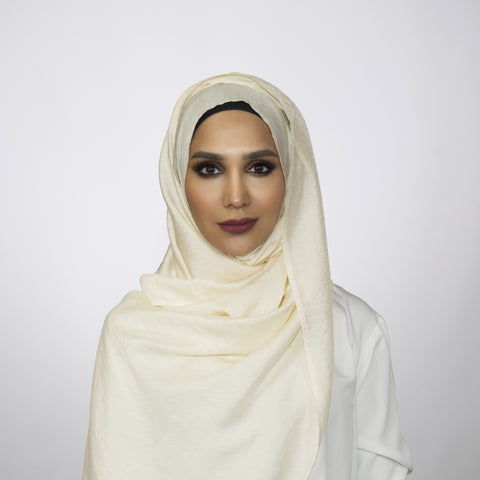 Cream Crushed Shimmer Hoojab