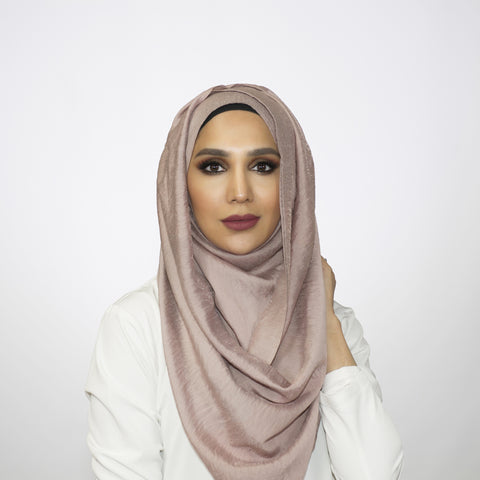 Soft Mauve Crushed Shimmer Hoojab