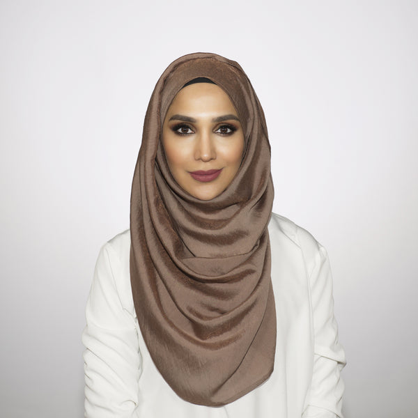 Taupe Crushed Shimmer Hoojab