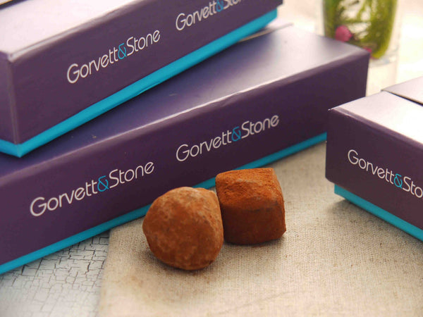 Gorvett and Stone boxes of handmade chocolates