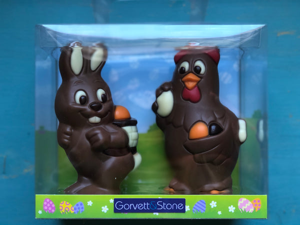 Bunny and Chicken  Easter Gift Box