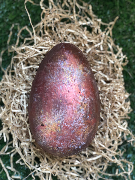 Metallic Filled Easter Egg (225g) Available in Milk (pictured) or Dark Chocolate