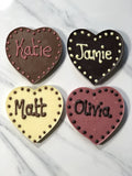 Personalised Chocolate Hearts