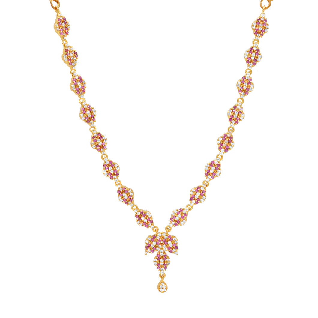Ruby CZ Short Necklace