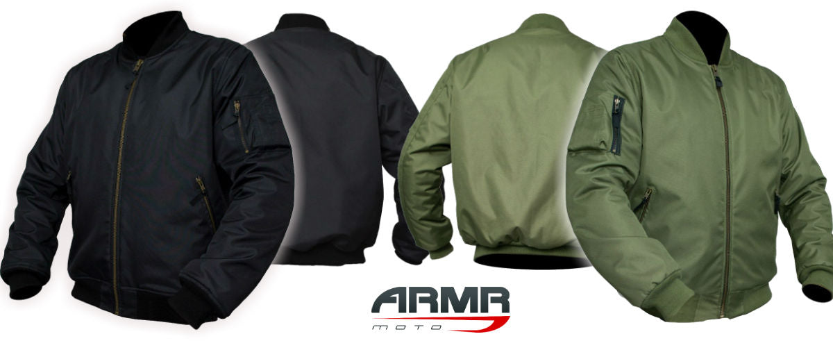 The Rundown - ARMR Moto Aramid Motorcycle Bomber Jacket