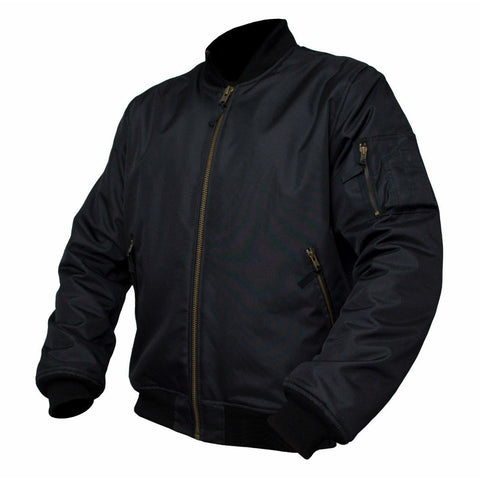 ARMR Aramid Armoured Bomber Jacket - Black ...