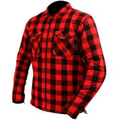 ARMR Moto Aramid Shirt Jacket - Red | Black
