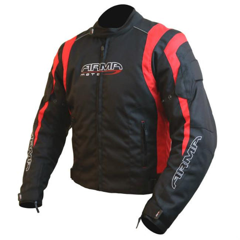ARMR Moto Ikedo 2 Textile Jacket | Black | Red