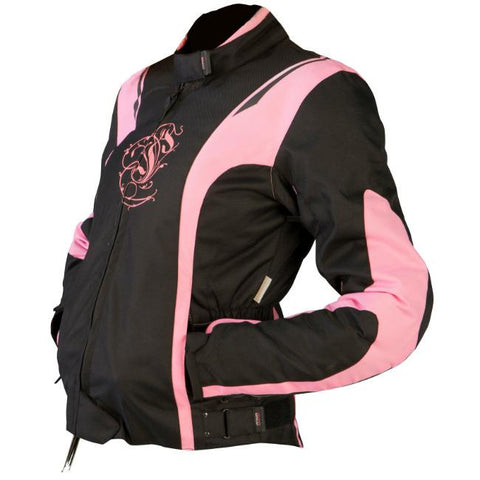 ARMR Moto JoJo Ladies Jacket | Black | Pink