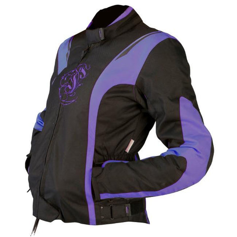 ARMR Moto JoJo Ladies Jacket | Black | Purple