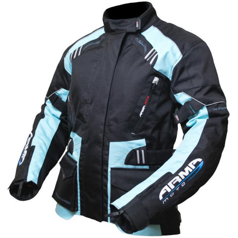 ARMR Moto Kiso 2 Ladies Jacket | Black | Blue
