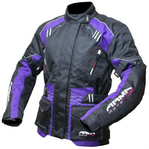 ARMR Moto Kiso 2 Ladies Jacket | Black | Purple