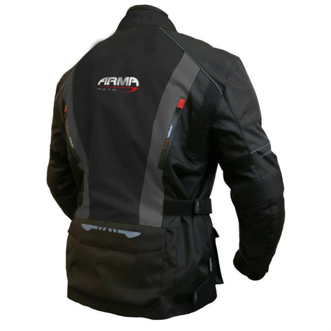 ARMR Moto Kiso 2 Textile Jacket | Black | Grey