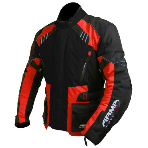 ARMR Moto Kiso 2 Textile Jacket | Black | Red