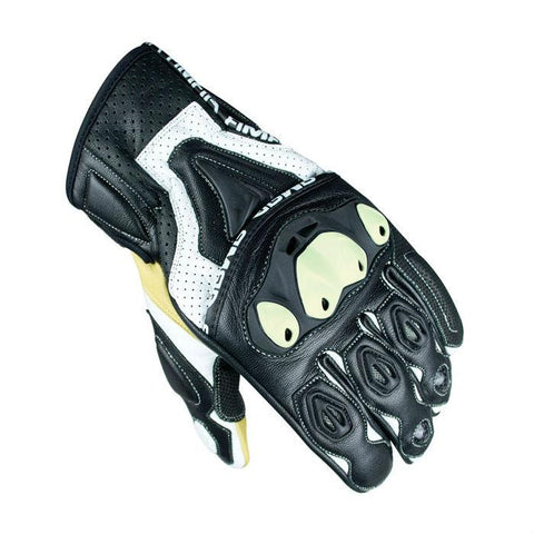ARMR Moto SHL445 Leather Gloves | Black | White