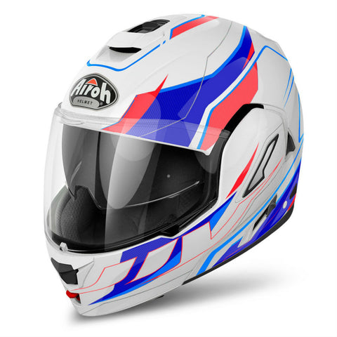 Airoh Rev Helmet Revolution - Gloss White | Blue