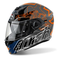 Airoh Storm Helmet Bionikle - Orange | Grey