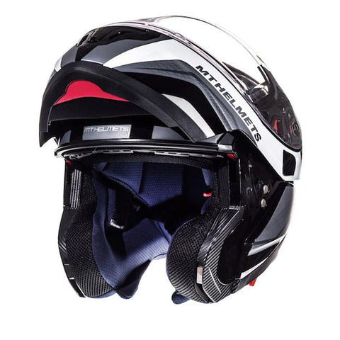 MT Atom Tarmac Helmet - Black | White
