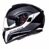 MT Atom Tarmac Helmet - Matt Black | White