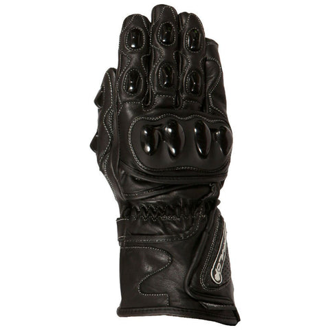Buffalo BR30 Leather Gloves | Black