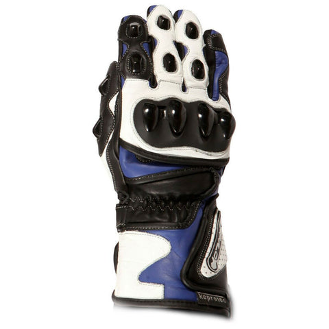 Buffalo BR30 Leather Gloves | Blue | White