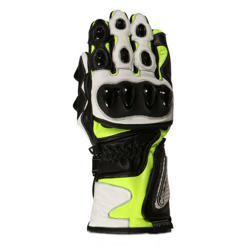 Buffalo BR30 Leather Gloves | Neon | White