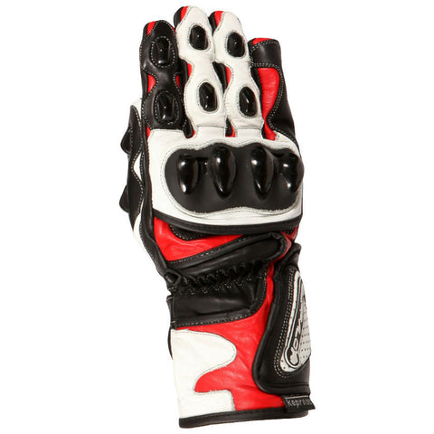 Buffalo BR30 Leather Gloves | Red | White