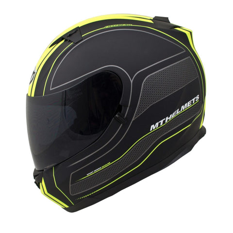 MT Blade SV Race Line Helmet - Matt Black | Yellow
