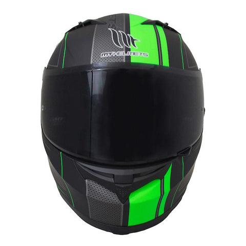 MT Blade SV Race Line Helmet - Matt Black | Green