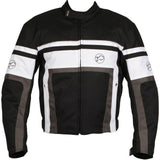 Buffalo Retro Textile Jacket | Black | White