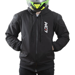 LDM ExoFlex Waterproof Kevlar Motorcycle Hoodie Jacket - Black