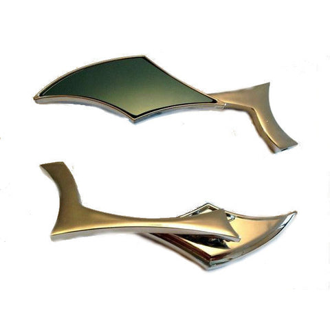 Chrome Diamond Shape Mirrors 8mm/10mm