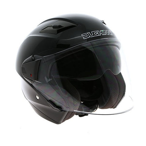 Duchinni D205 Jet Helmet - Gloss Black